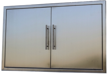 "Picture of BBQ Island Stainless 39"" Double Door"