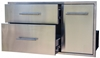 """Picture of BBQ Island Component Built in Stainless Double Drawer and Propane Slide-Out Trash Combo. (39"""")"""