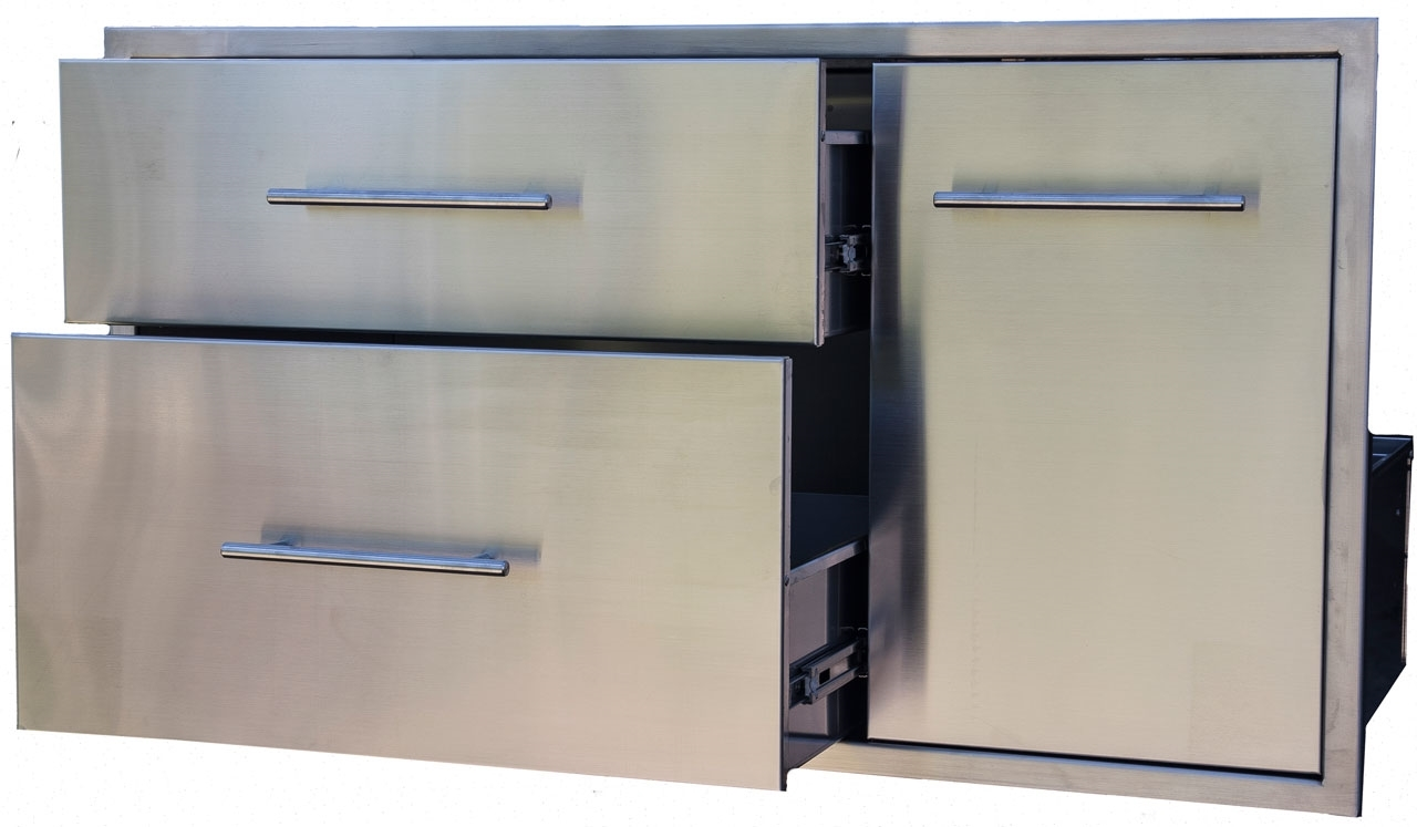 Bbq Island Component Built In Stainless Double Drawer And